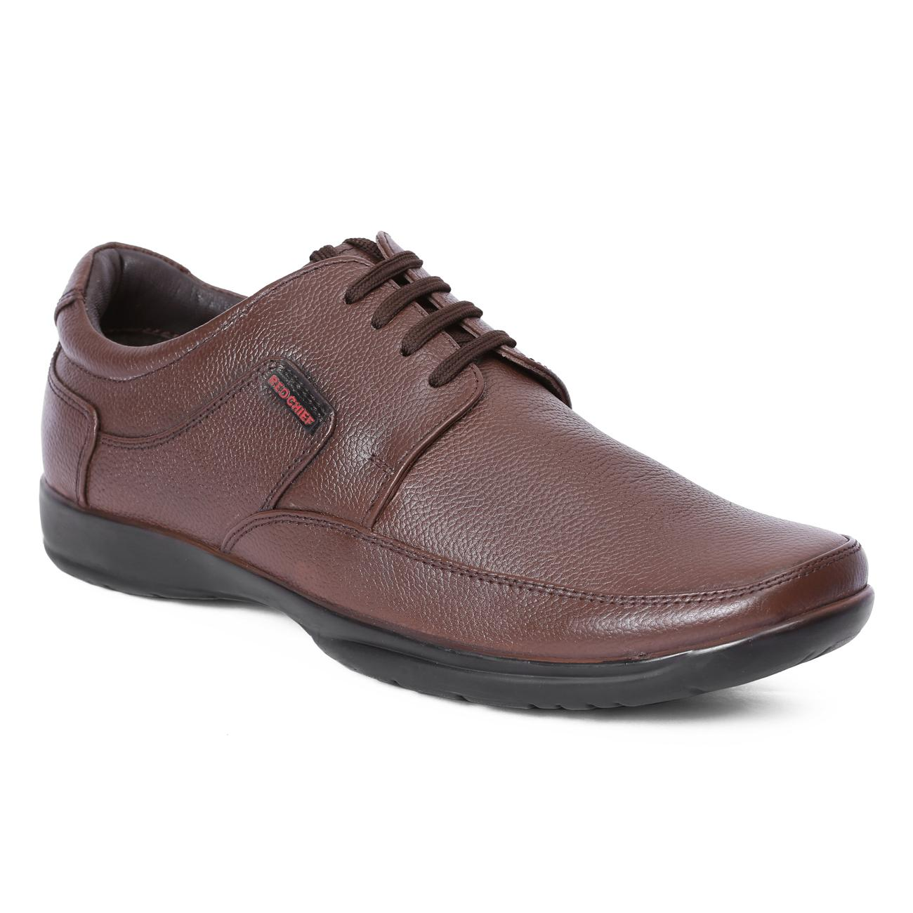 Best Sale Red Chief Men Brown Genuine Leather Casual Shoes